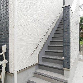 階段のあるホワイト