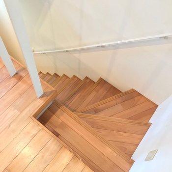洋室からさらに階段を降りて。(※写真は別棟の同間取り別部屋のものです)