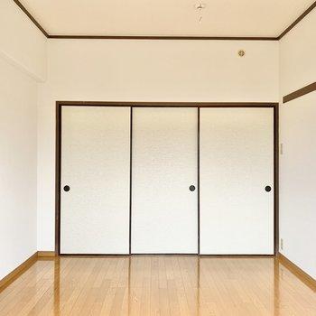 【洋室6帖】押入れを開けてみましょう。