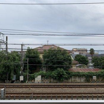 眺望は線路です。