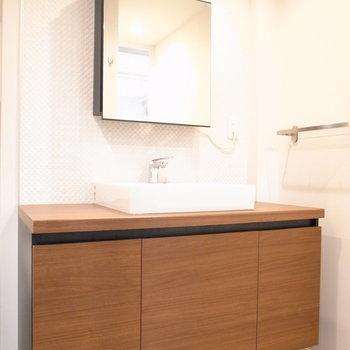 洗面台もホテルライクです。