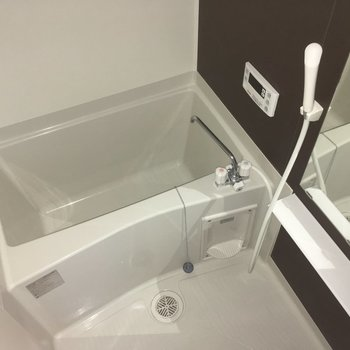 バスルームもシンプルです※写真は2階の反転間取り別部屋のものです