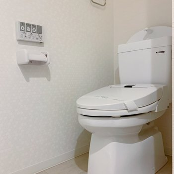 トイレも同じ空間にあります。ウォッシュレットつき!
