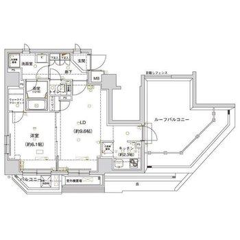 ルーフバルコニーのある、ゆったりとしたお部屋です!