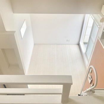 高さ結構あります。上り下りは要注意です。(※お部屋は清掃前のものです)