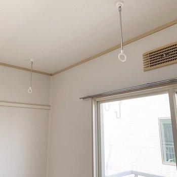 室内物干もありますよ◎花粉の季節や雨の日に重宝しますね。