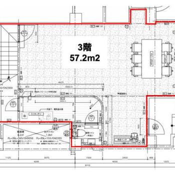 3階と4階のメゾネットで、こちらが3階の図面です