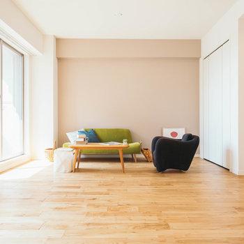 大きな収納もあるので、お部屋はスッキリ見せられます※写真は完成イメージです