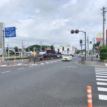 駅周辺には、ファーストフード店や飲食店がいくつかあります。