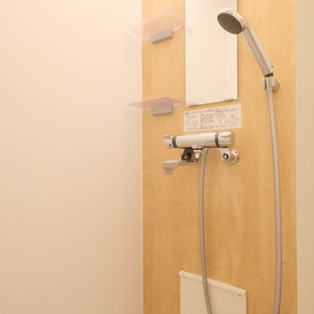シャワールームの清潔感も◎