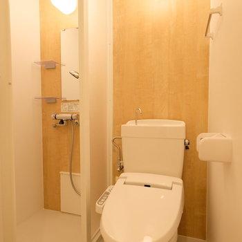 トイレと併設されています
