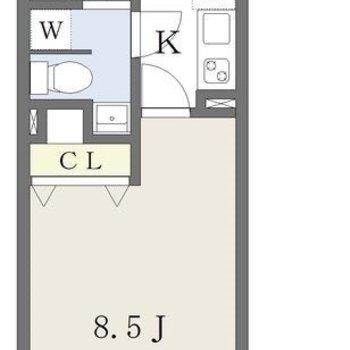 シンプルな間取りで家具を配置しやすいですよ。