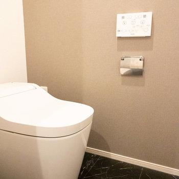 なめらかな曲線が美しいトイレ。