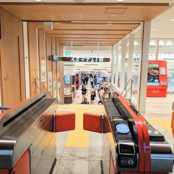 姪浜駅には改札直結の駅商業施設が併設!