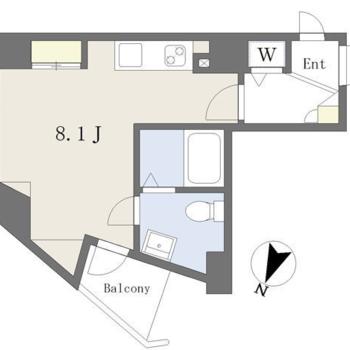 ザ・カクカク!ユニークな形をしたお部屋です。