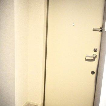 シューズボックスはありません。お隣の大きなクローゼットを活用してもいいかも。(※写真は4階の同間取り別部屋のものです)