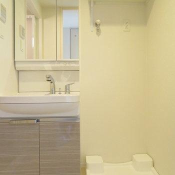 洗面脱衣所もしっかり※写真は同間取り別部屋のものです