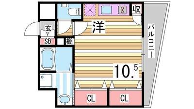 KAISEI神戸海岸通第IIの間取り