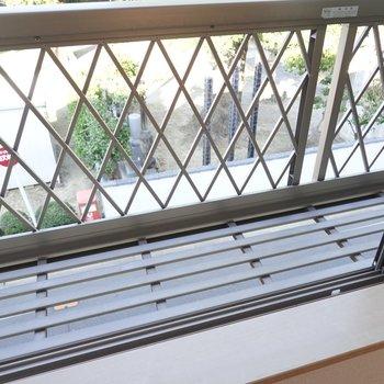 反対側の洋室の窓にはプランターを置けるスペース付き。