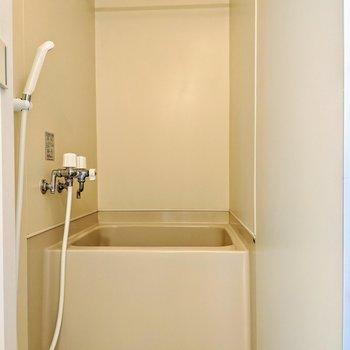 物干しポール付きの浴室ですよ。