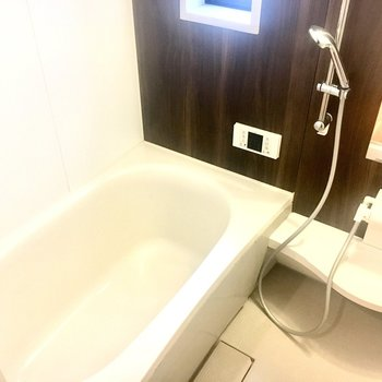 ゆったり休めそうな浴槽ですね。