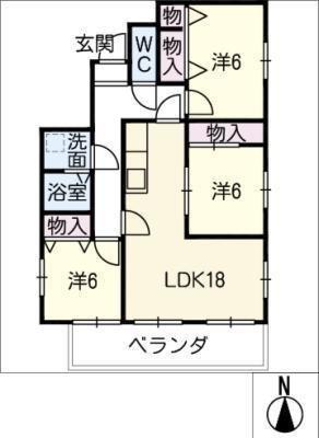 徳川パークサイドマンションB棟の間取り