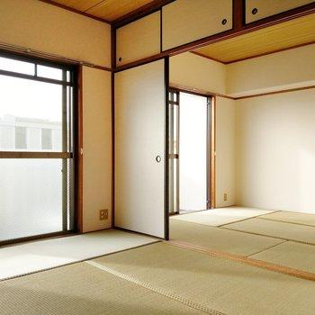 2部屋続きの和室がありました!どちらも広さは6畳です。