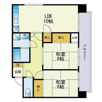 和室が2部屋!広さがしっかりあります。