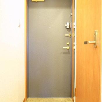 ちょっとちいさい玄関です。