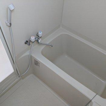シャワーヘッドは扉側についています。