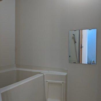 清潔感のある浴室。