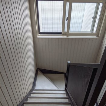 3階まで階段を上ります。詳しくは現地でご確認ください。