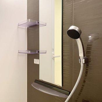 鏡の脇には棚も付いています。