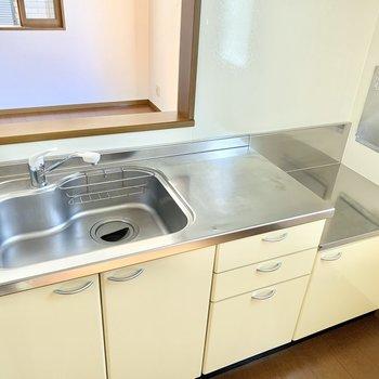 【LDK】シンクが広くて洗い物がしやすそうです。