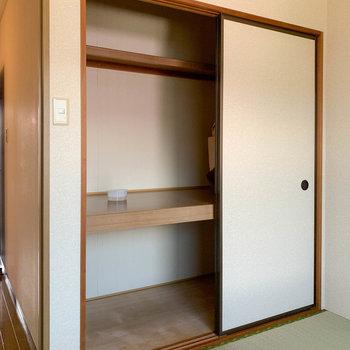 【和室約6帖】押し入れ収納があります。