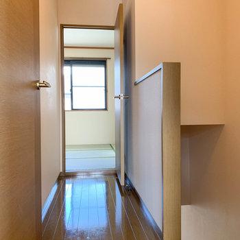 2階の廊下部分。それぞれの部屋を見ていきましょう。