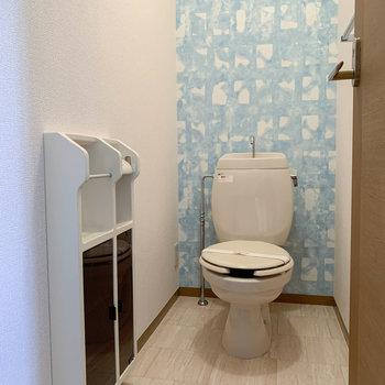 トイレは個室内が広めの作りでした。