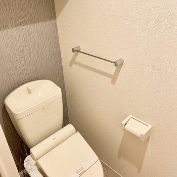 個室のトイレも高級感がありますよ。