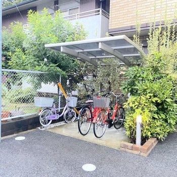 駅までは自転車がお勧めです。