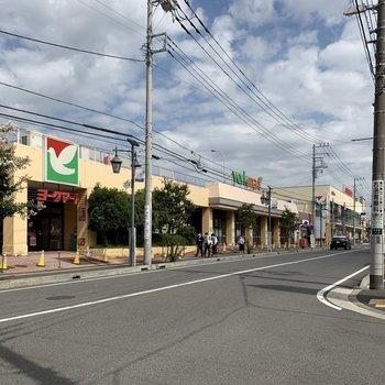 駅近くには大きなスーパーがありました。