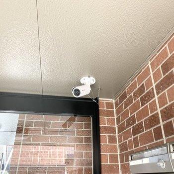 防犯カメラが付いていて安心です。