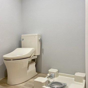 トイレや洗濯機置場も同室です。