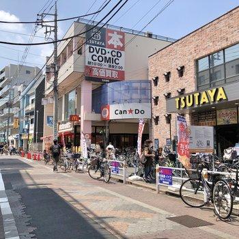大森町駅周辺には様々なお店が立ち並んでいました。