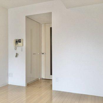 クローゼットはドア横に。