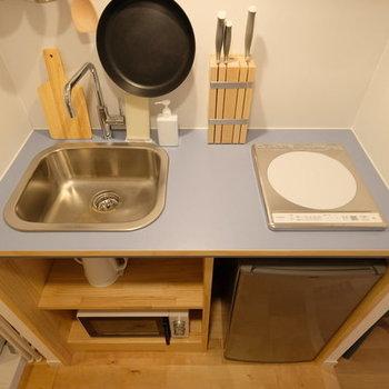 【家具入りイメージ】生活に必要なキッチン家電類。