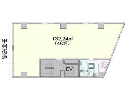 新宿 40坪 オフィス の間取り