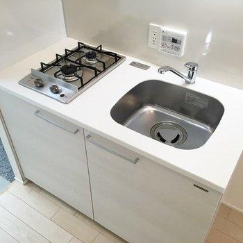 キッチンはシンプルですが、自炊はできそうですね。