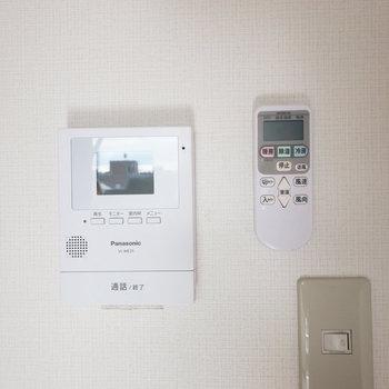 TVモニター付きのドアホンがあって防犯面も安心です。