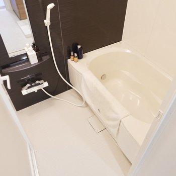 追い焚き付きでゆとりある浴槽、二人暮らしには嬉しいですね。