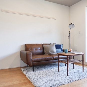革やヴィンテージ家具がよく合いますね。